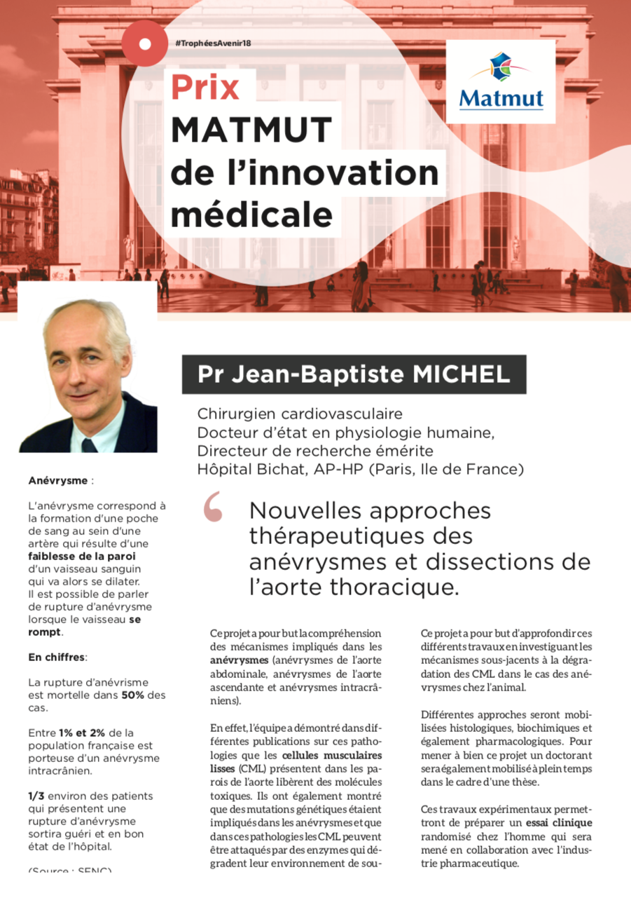 A new award for Jean-Baptiste Michel