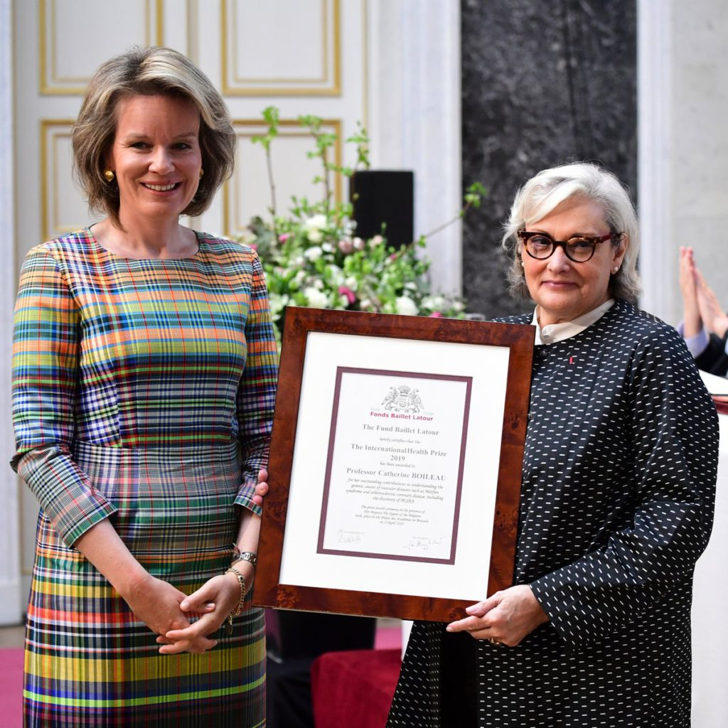 Catherine Boileau awarded the grand prize of scientific recognition by the Queen of Belgium